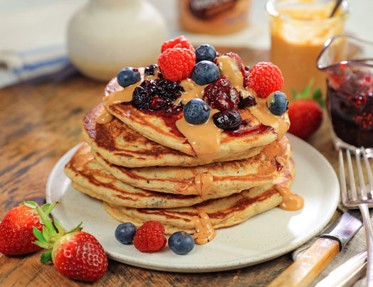 Wholemeal Chia Pancakes